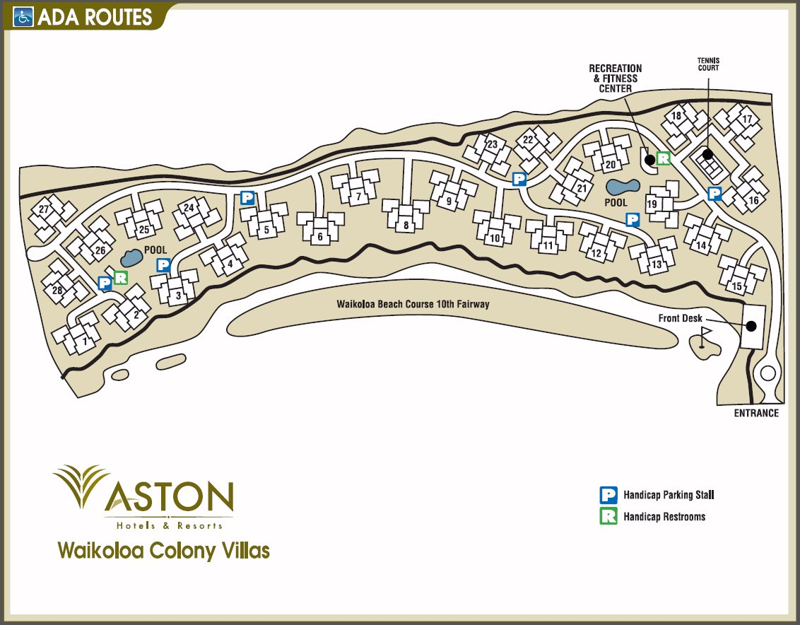 Map Layout Aston Waikoloa Colony Villas