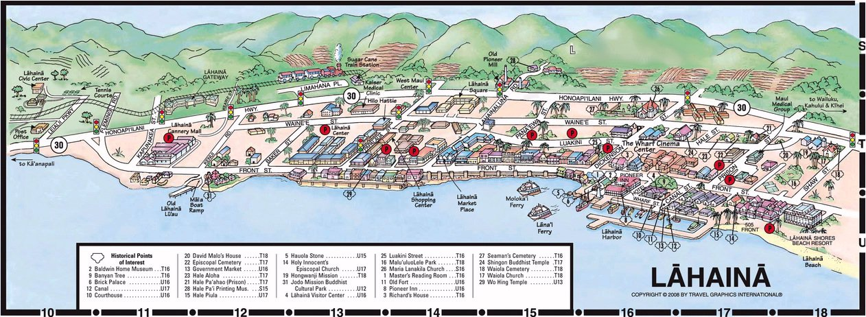 Map Of Lahaina Maui Related Keywords Amp Suggestions  Map