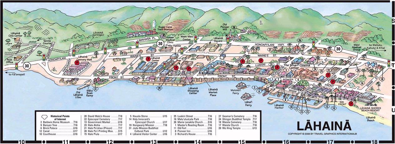 Layout Lahaina Shores Beach Resort