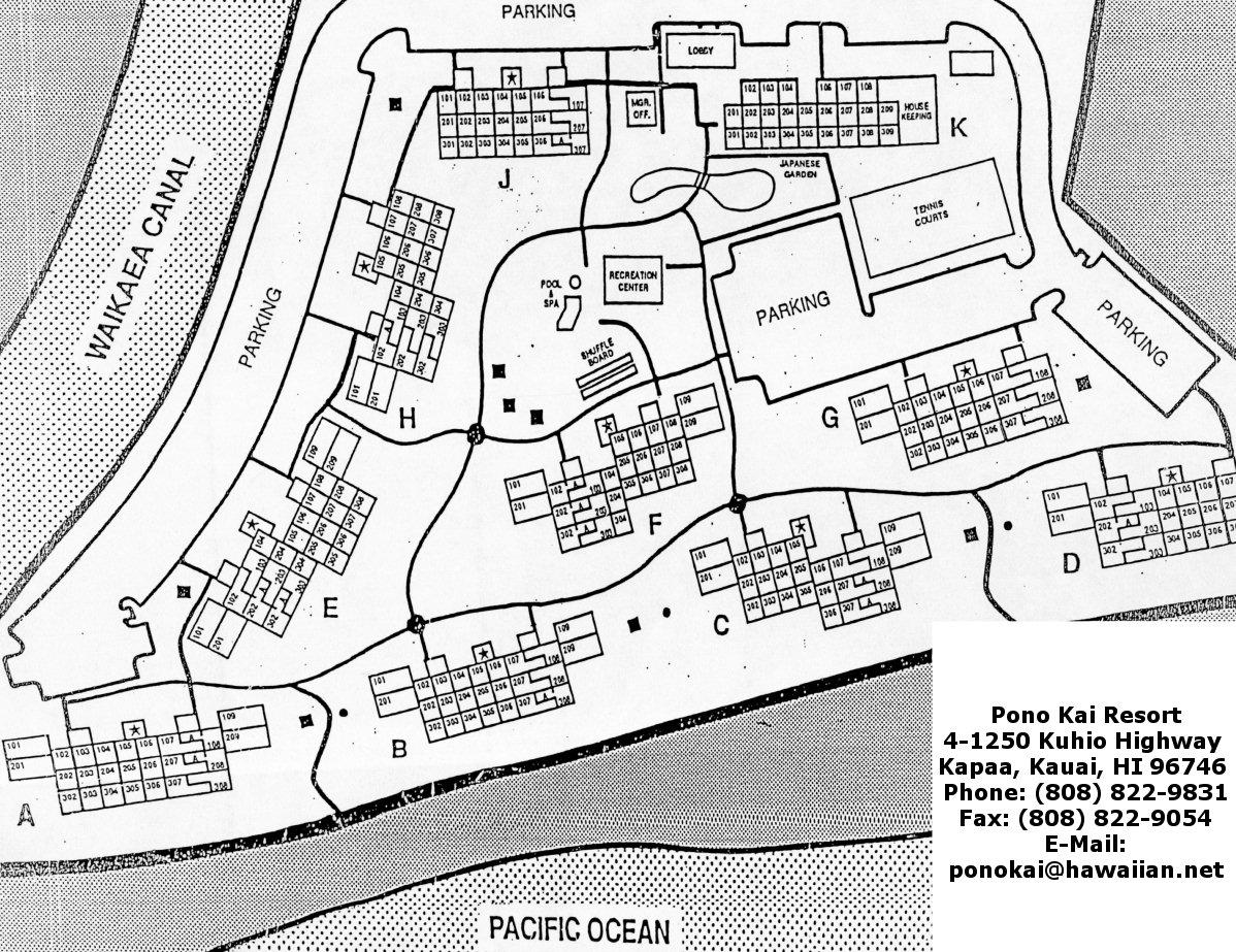 Map Layout Pono Kai Resort
